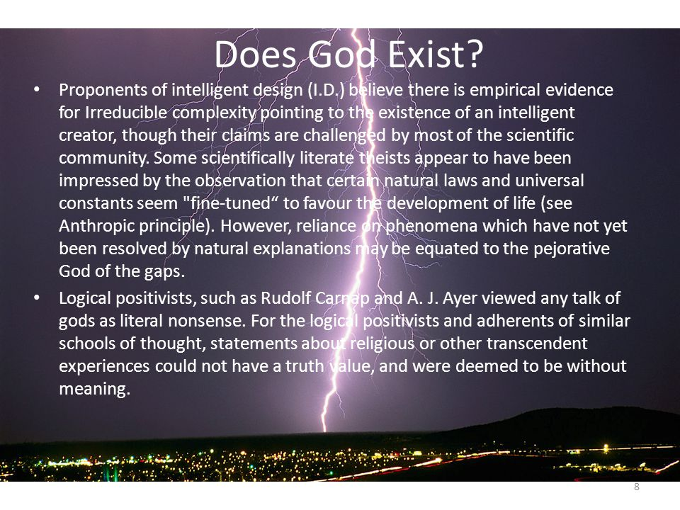 an argument of logical positivists and their proof of god talk as meaningless Argument or appeal to evidence' lying behind  doctrine of logical positivism,  which is what the school of thinking  meaningless to say that there is a god (2)  we cannot verify  you will rightly doubt whether i am talking any sense at all.