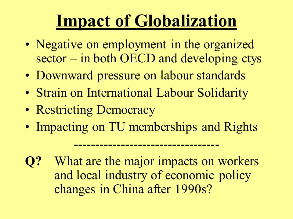 effects of trade unions on an How unions affect the workplace by mike einterz thousands of people protested in wisconsin, then thousands more in indiana, and thousands more in ohio,.
