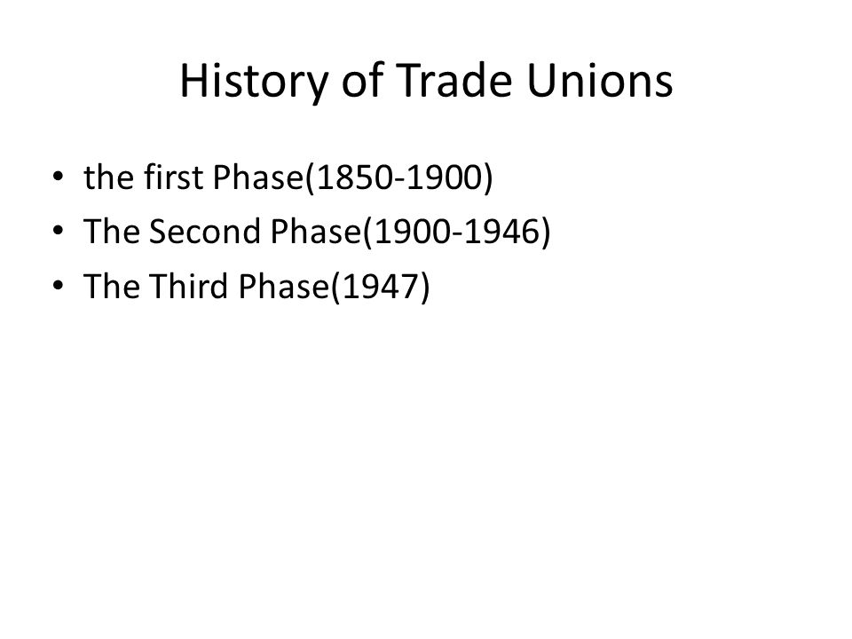 A history and evolution of trade unions