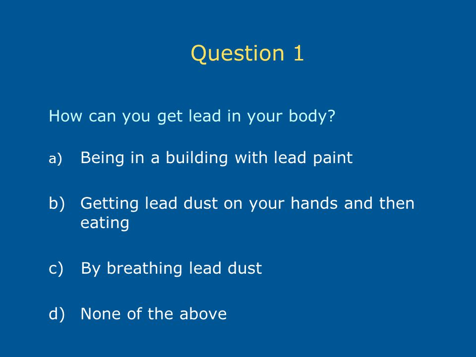 how to get rid of lead in your body