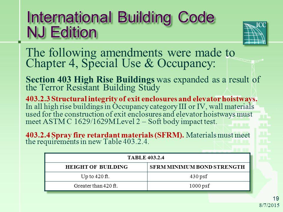 International Building Code  New Jersey Edition