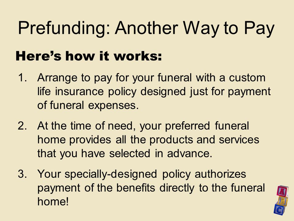 The Abcs Of Advance Funeral Planning Ppt Download
