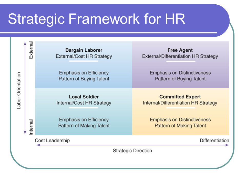 Strategic Framework for HR