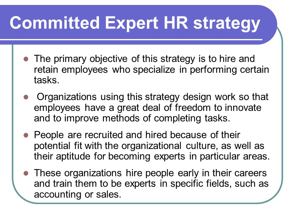 Committed Expert HR strategy