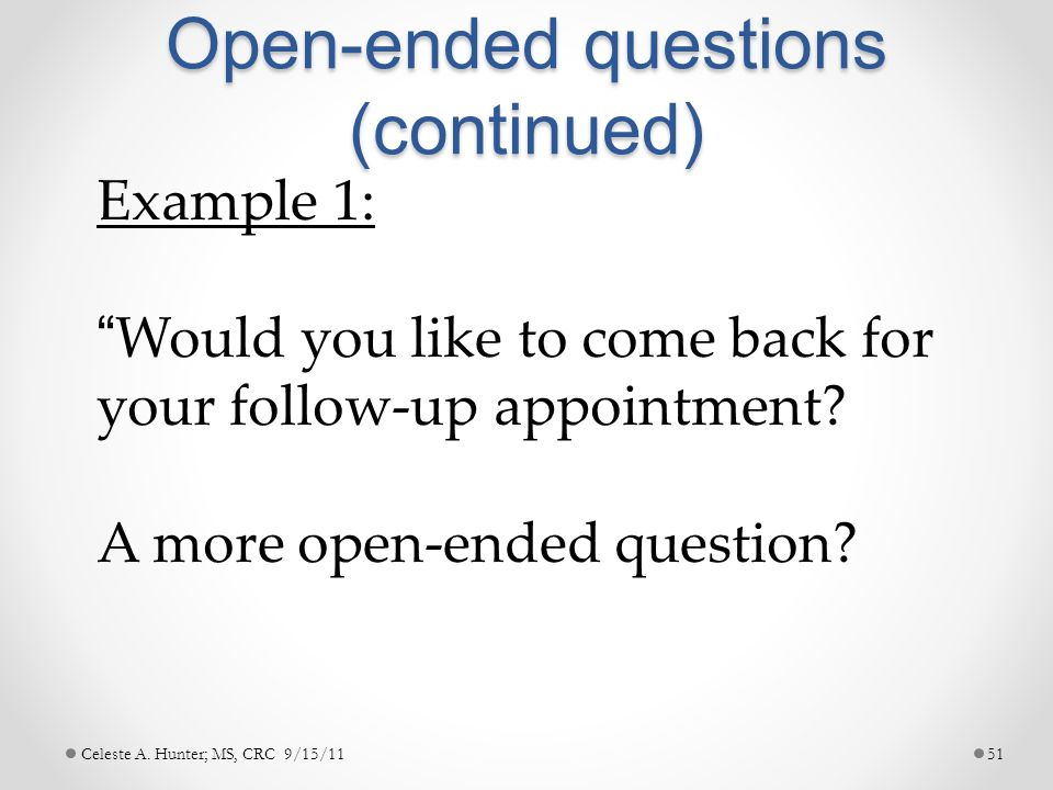 The Open Ended Question A Powerful Dating Tool