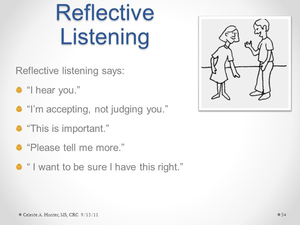 reflective listening essay This is a new version of the active reflective listening video i had up originally there was a misspelling, a vo error and a minor edit fix this video was.