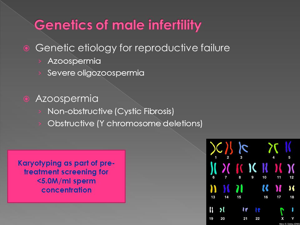 Genetics of male infertility