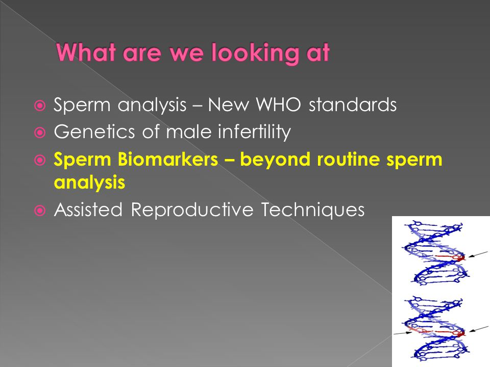 What are we looking at Sperm analysis – New WHO standards