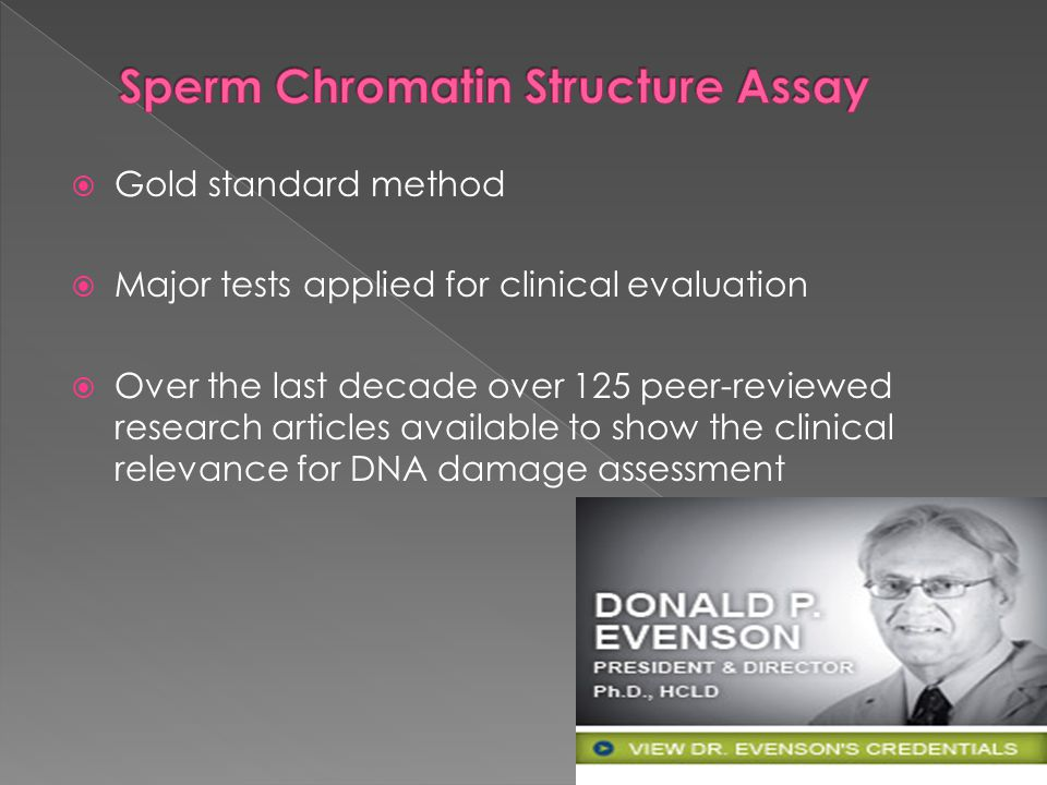 Sperm Chromatin Structure Assay
