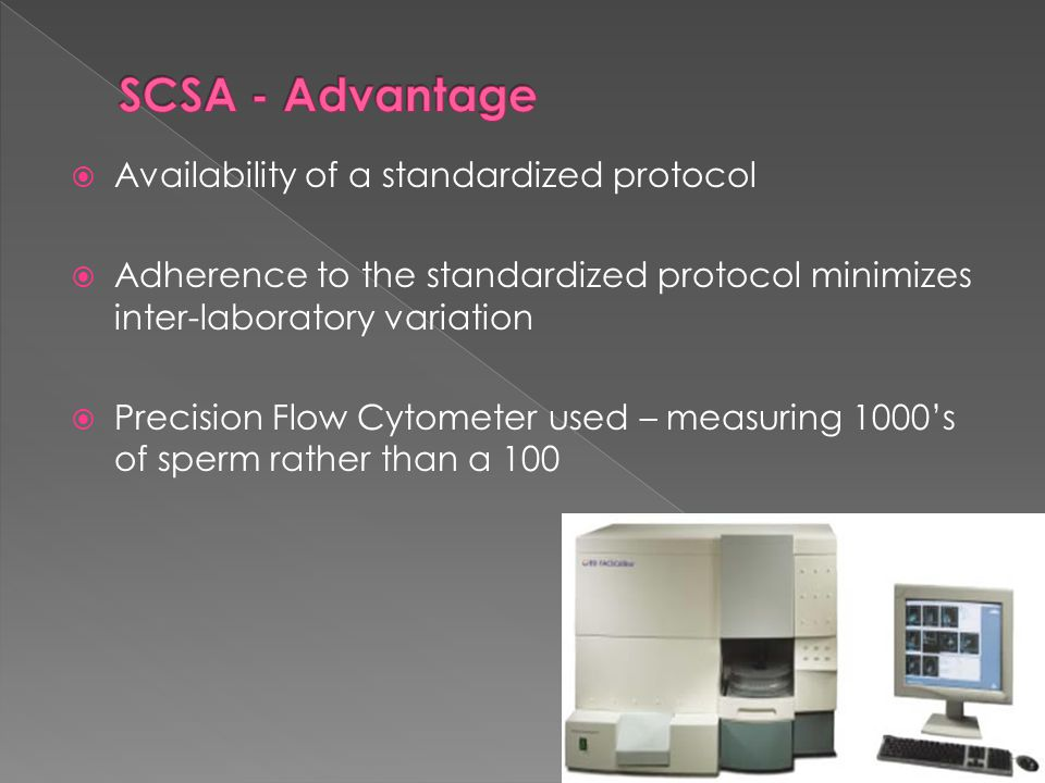 SCSA - Advantage Availability of a standardized protocol