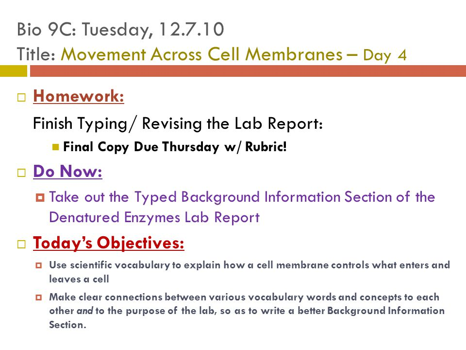 cell membrane report Cell membrane report 1 cell membrane whats new intesar t aba-conding 2 in 1935, hugh davson and james danielli proposed a sandwich model in which the phospholipid bilayer lies between.