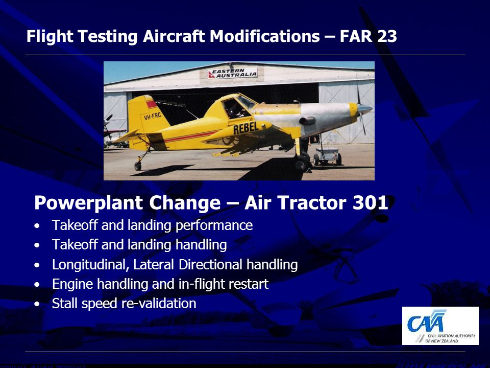 Far 23 Modifications And Flight Test Ppt Video Online