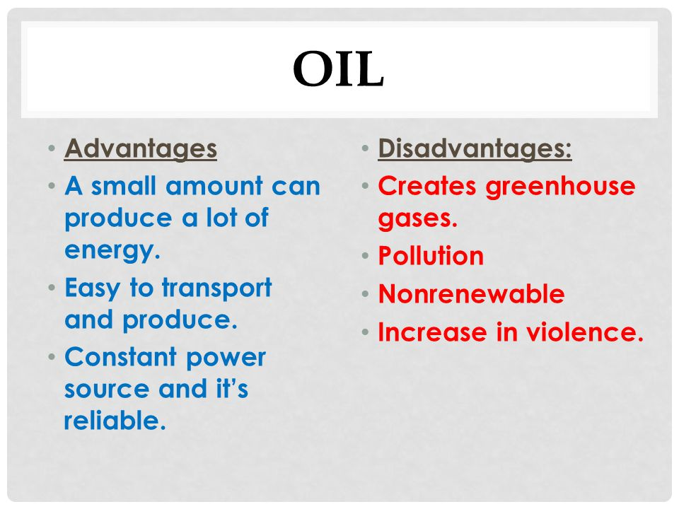 Advantages & Disadvantages of Energy Resources - ppt download