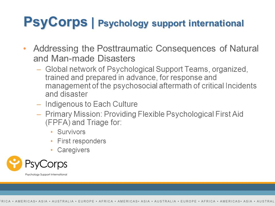 PsyCorps | Psychology support international