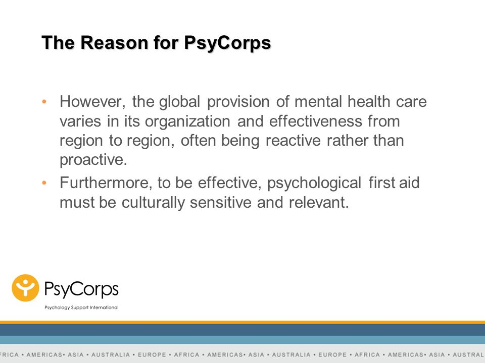 The Reason for PsyCorps