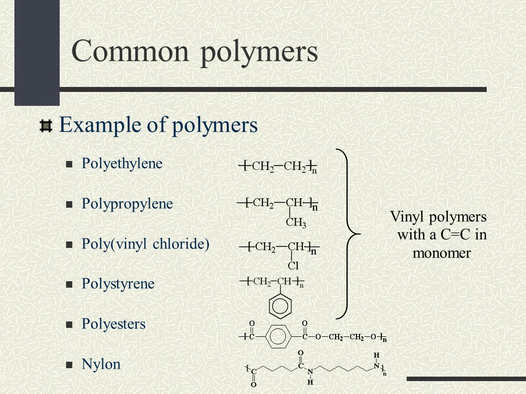 A look at polymers their sources and different uses
