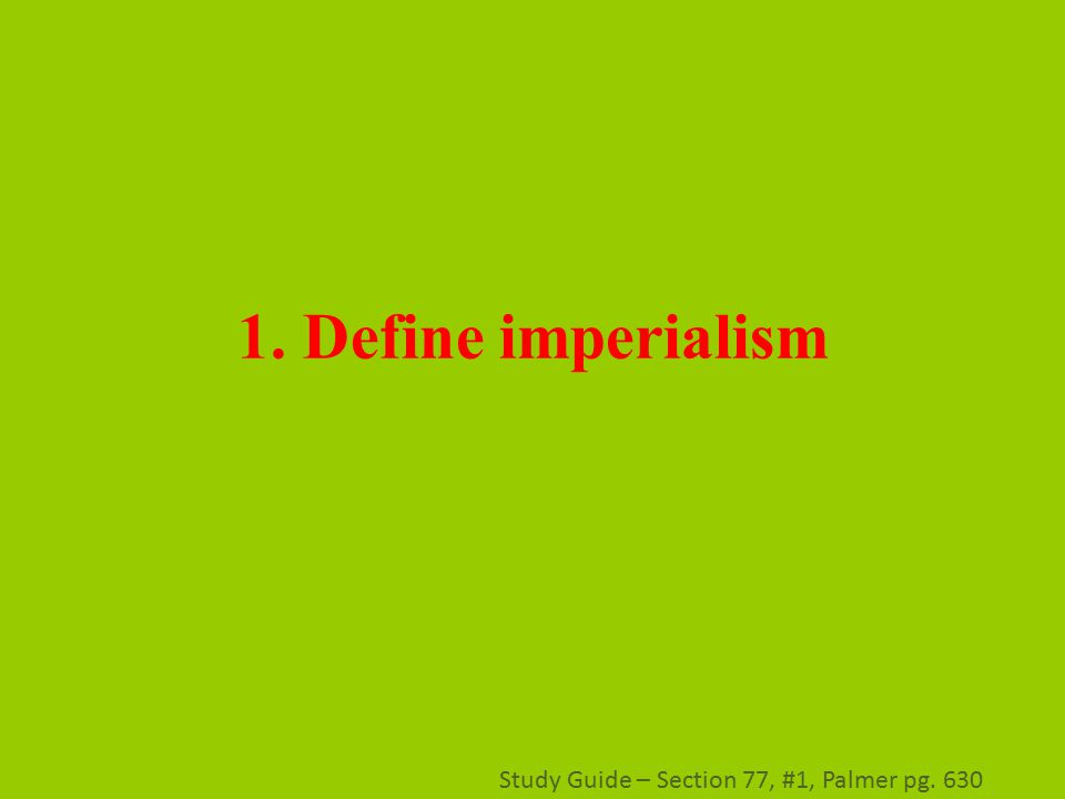 Study Guide: Imperialism in the 21st century | Liberation ...