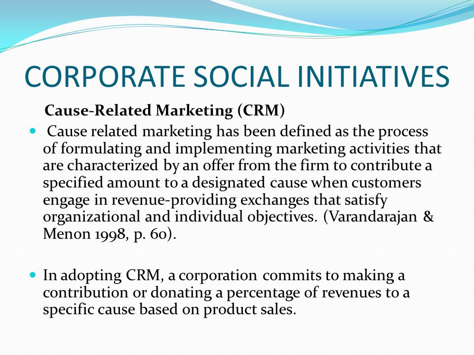cause related marketing definition pdf