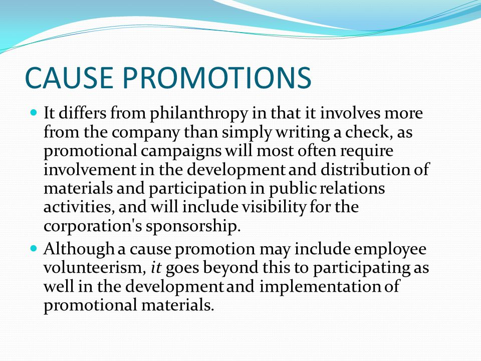 CAUSE PROMOTIONS