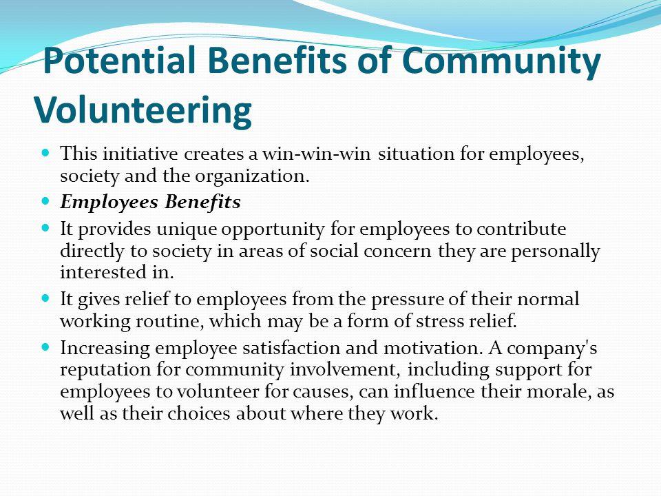 Potential Benefits of Community Volunteering