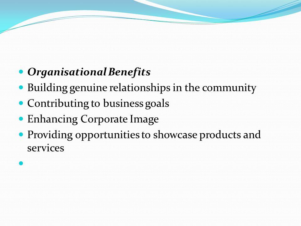 Organisational Benefits