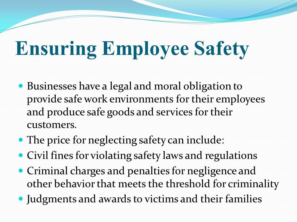 Ensuring Employee Safety