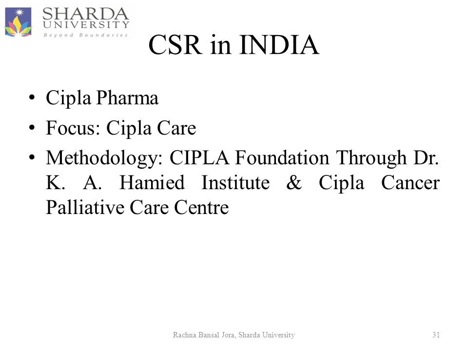 cipla csr Can breakthrough innovations serve the poor  and create reputational (csr)  generated by the csr effort, helped cipla tide over the opposition built.