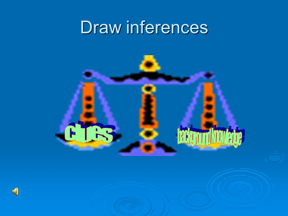 Draw inferences clues background knowledge