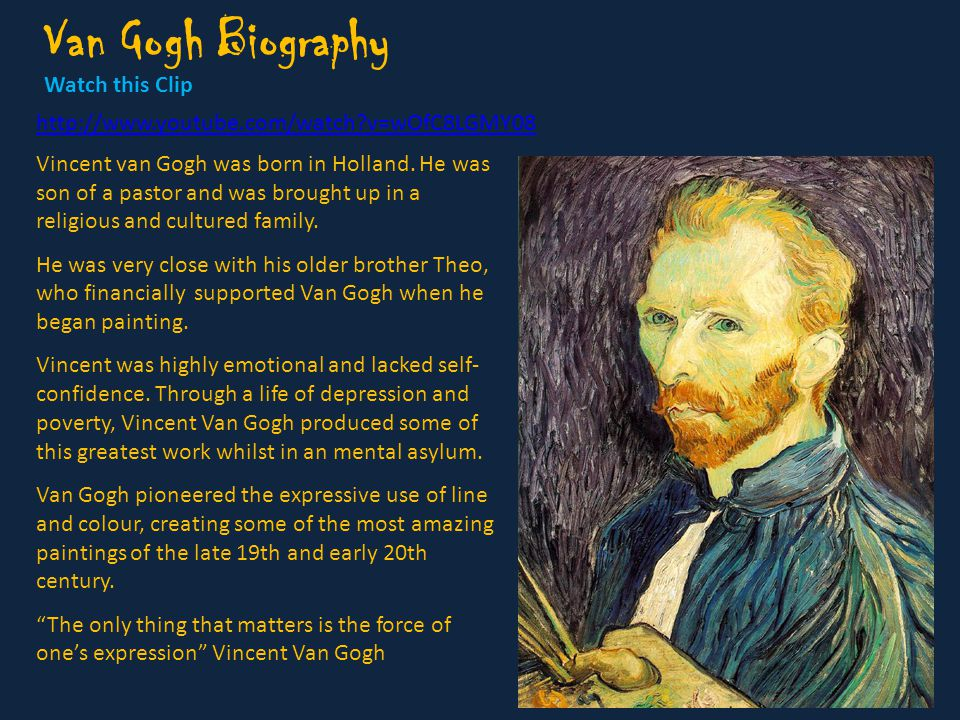 Vincent Van Gogh Biography
