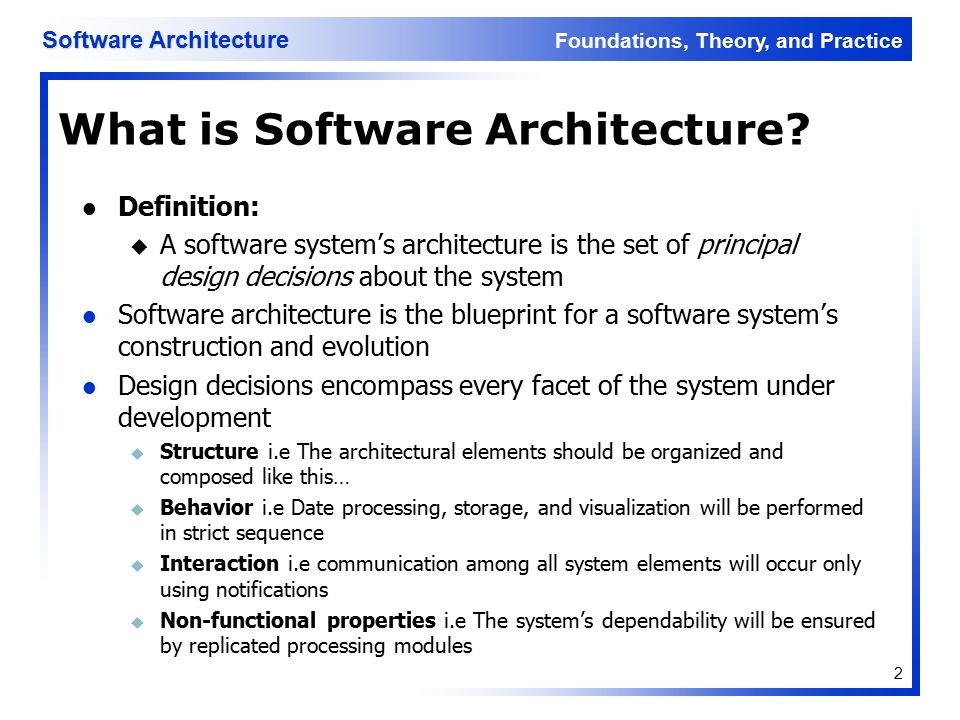 Software architecture lecture 3 ppt download what is software architecture malvernweather Images