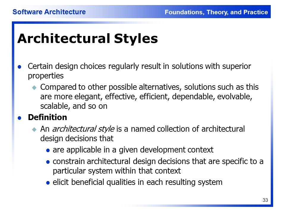 Software architecture lecture 3 ppt download for Anarchitecture definition
