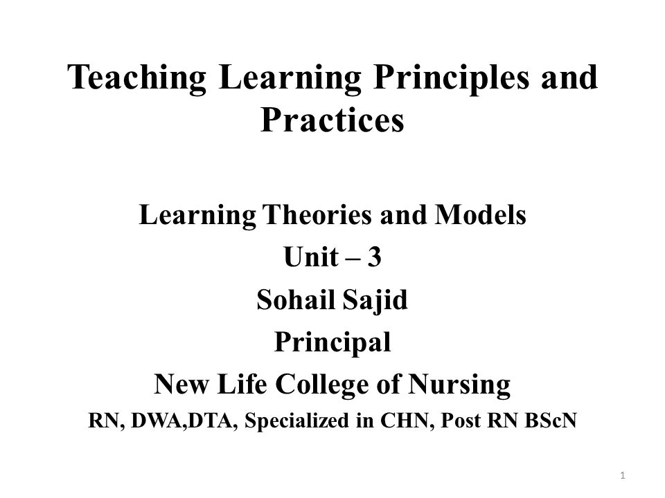 the principles of teaching learning and Principles of effective online teaching: 10 principles of effective online teaching: best practices in distance education will serve as a valuable guidebook.