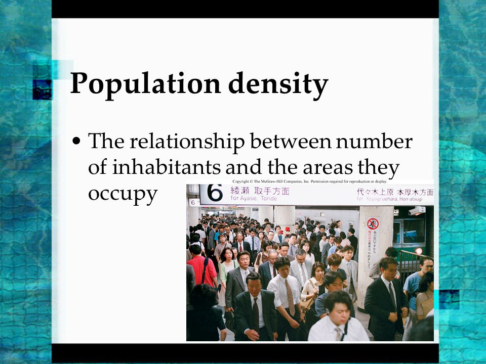 relationship between population density and political hierarchy