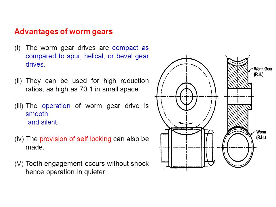 Advantages of worm gears
