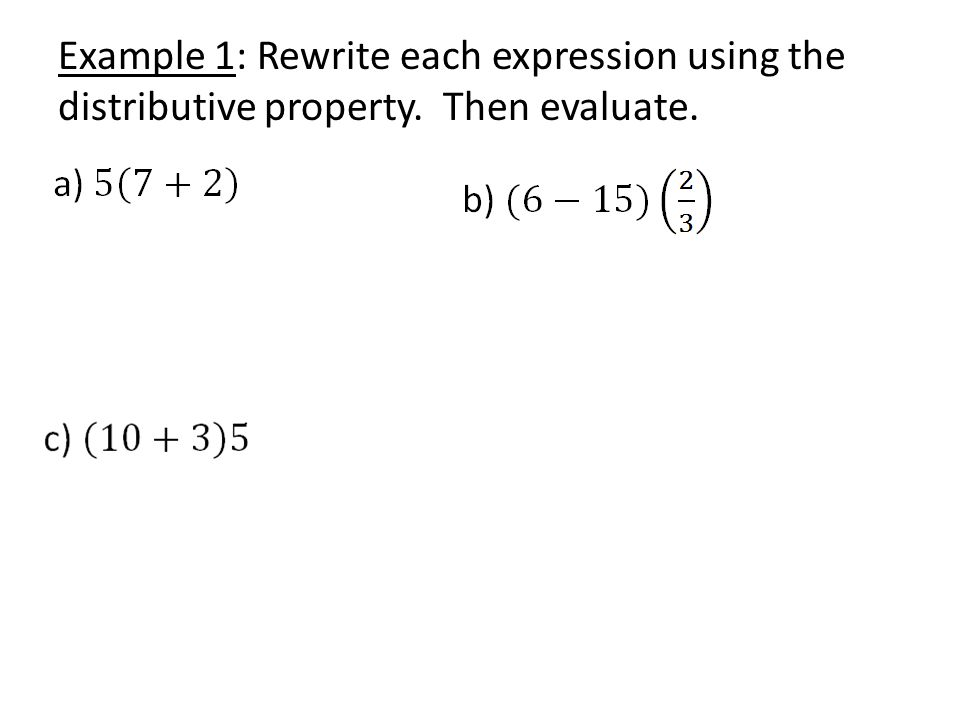 rewrite an expression as a sum