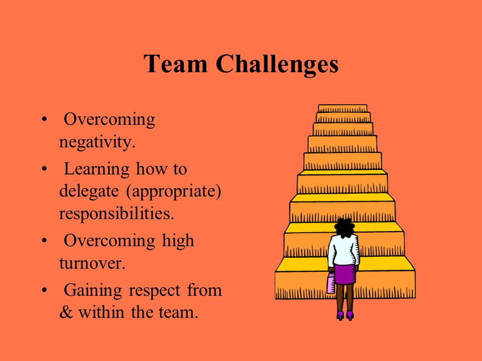 overcoming obstacles of establishing self directed teams Establishing self-directed work teams is easy, but developing and supporting them doesn't happen automatically a work force is generally.