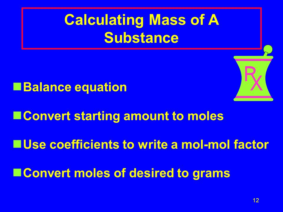 Calculating Mass of A Substance