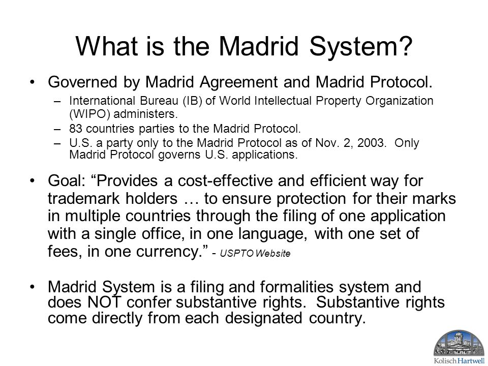 Madrid trademark system countries