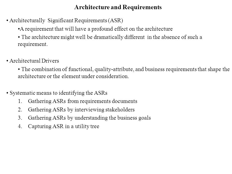 Architecture And Requirements  Ppt Video Online Download