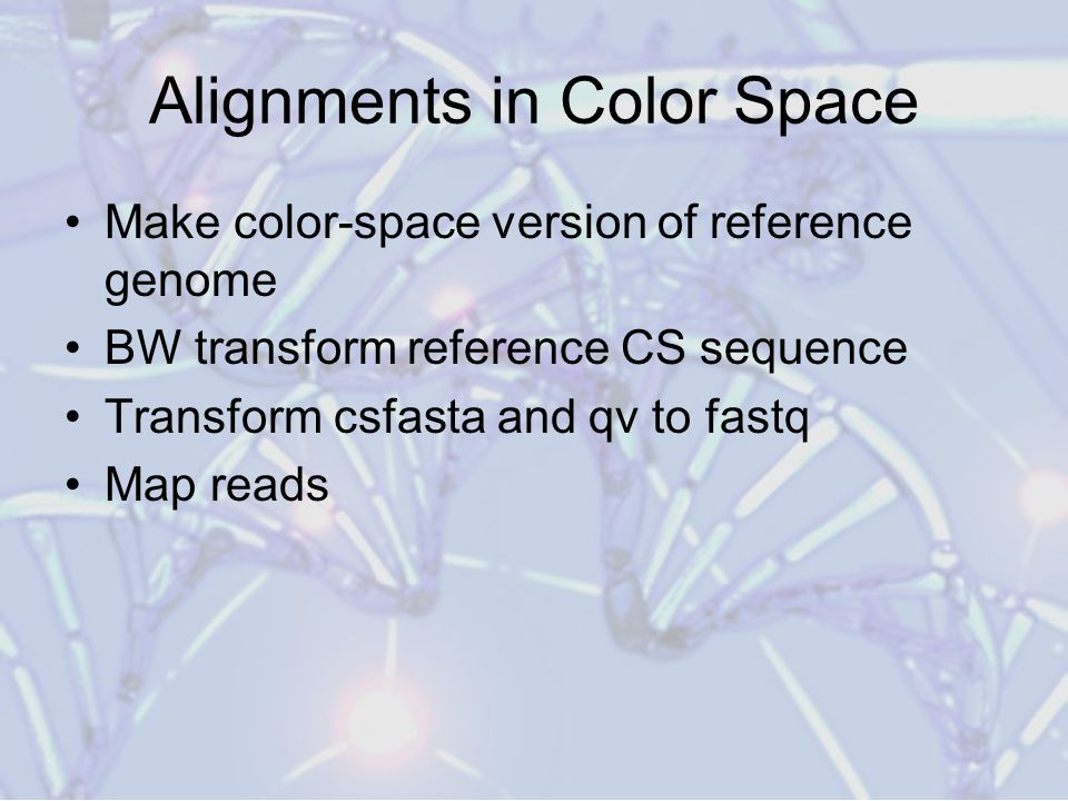 Alignments in Color Space