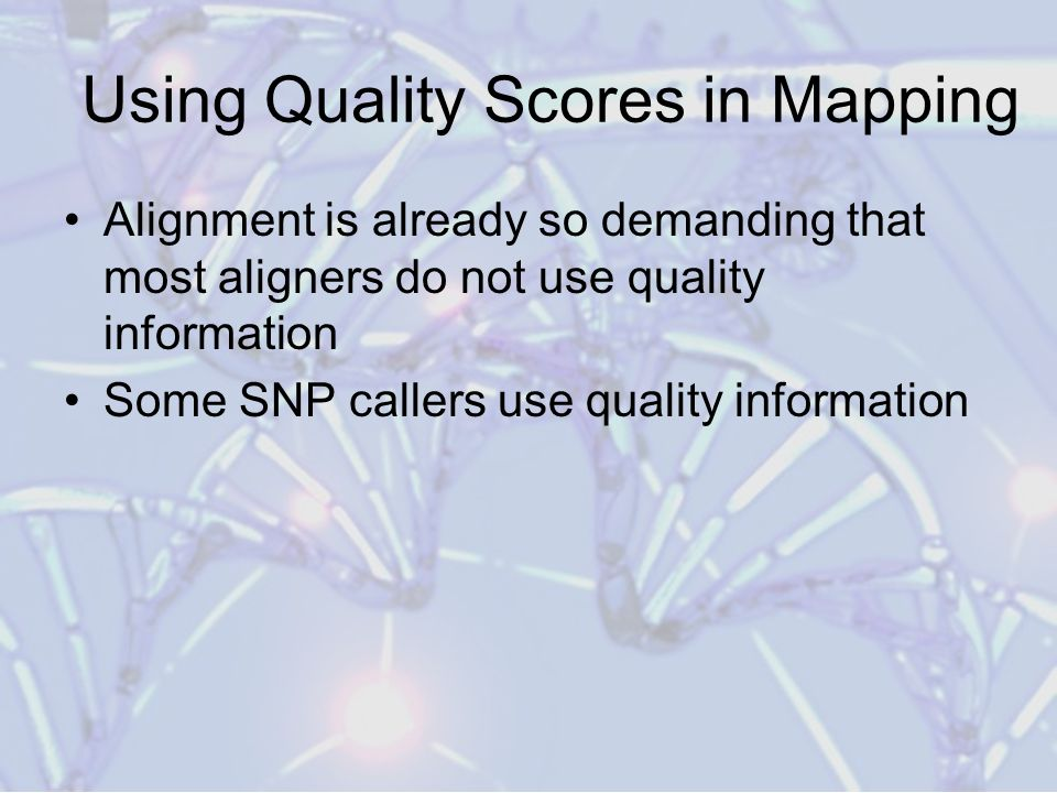 Using Quality Scores in Mapping