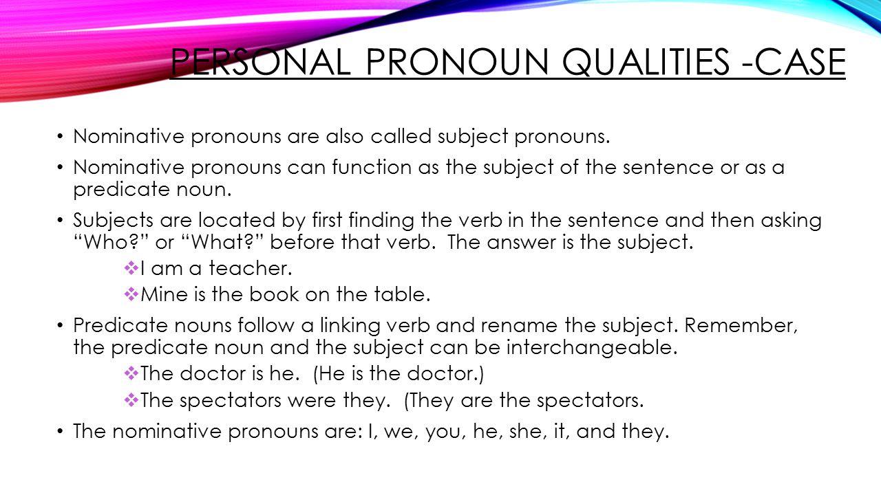worksheet Nominative Case Pronouns Worksheets workbooks nominative case pronouns worksheets free printable part one grade eight ppt video online download worksheets