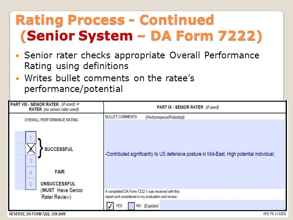 Total Army Performance Evaluation System (TAPES) - ppt video ...