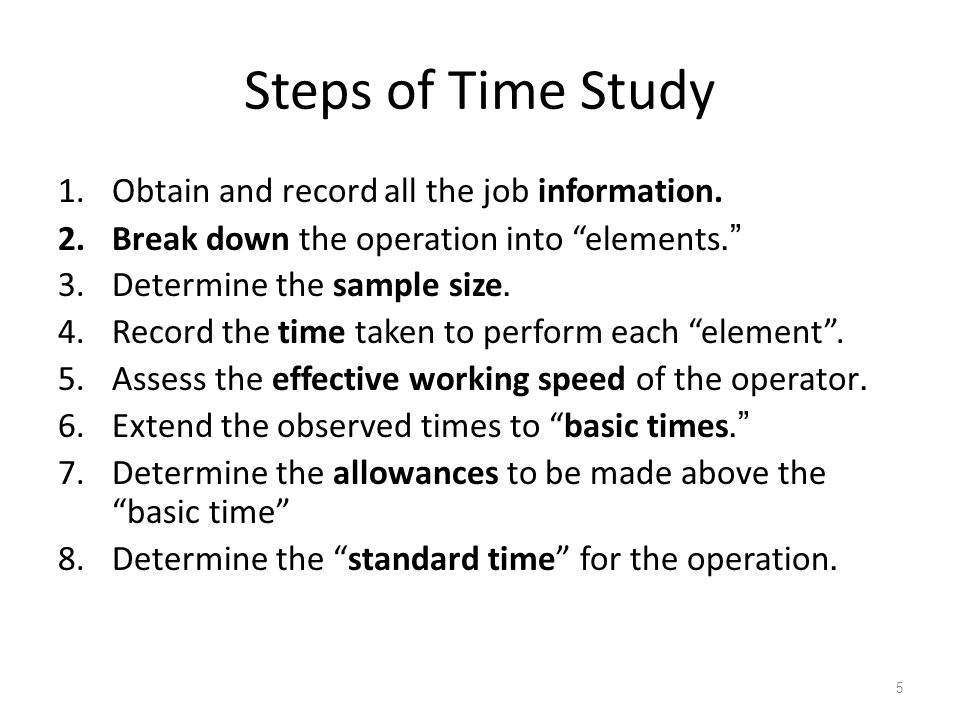 Time Study Templates for Process Observation