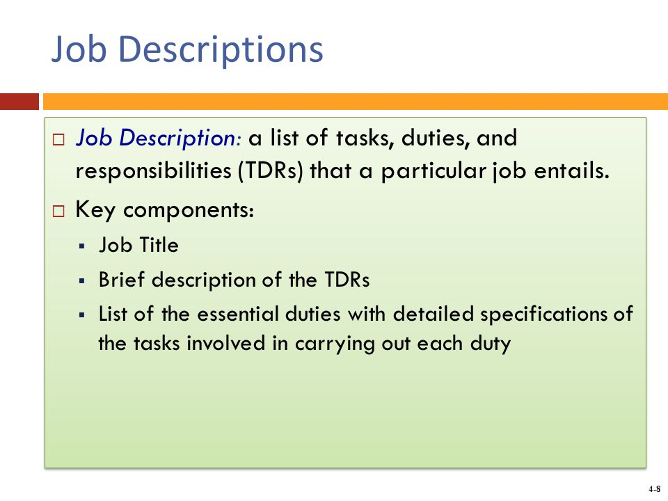 chapter 4 analyzing work and designing jobs ppt download