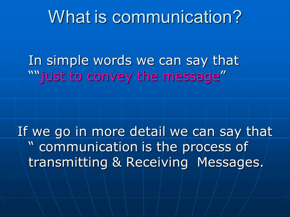 what is communication in simple words