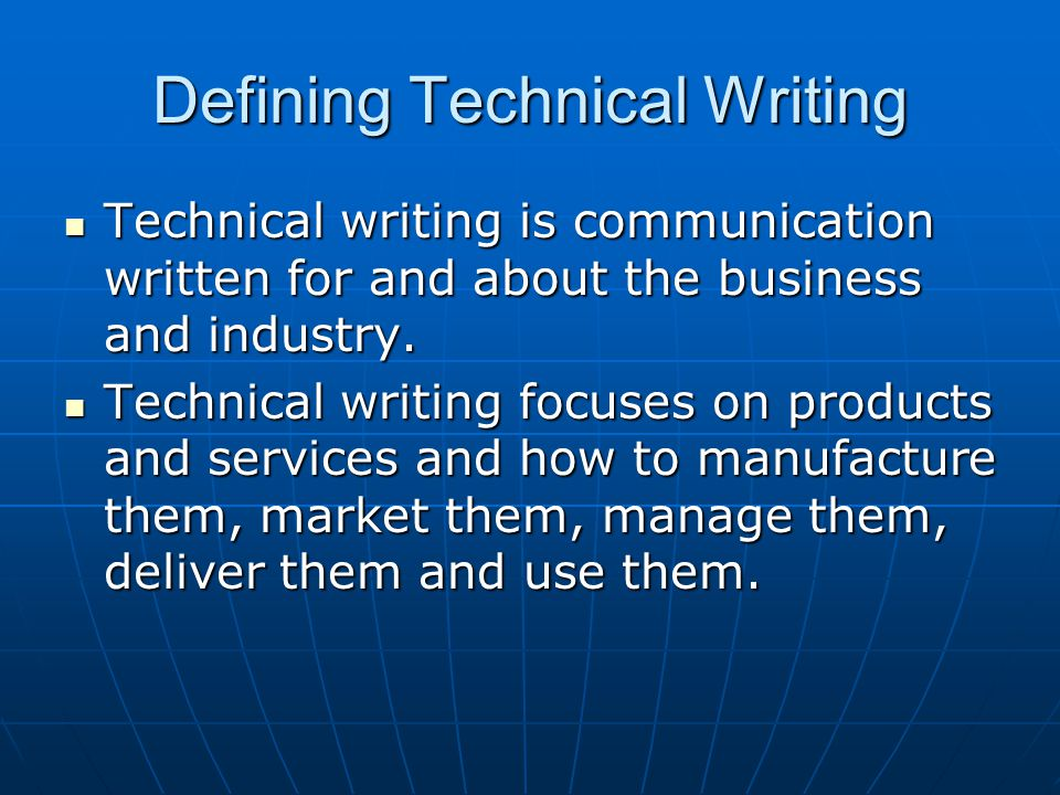 definition of technical report writing