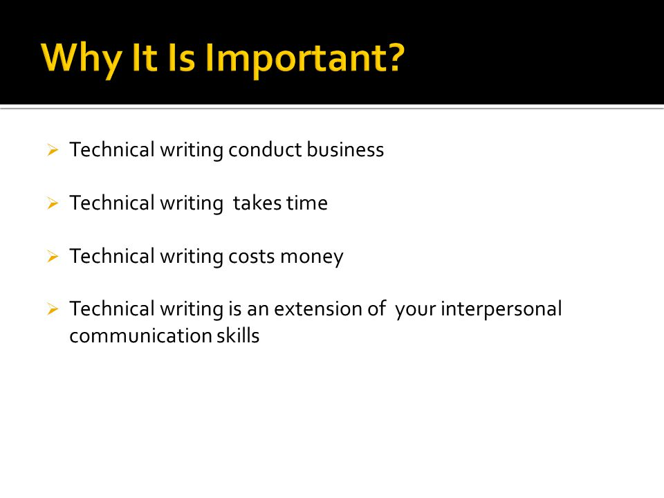 Characteristics of Technical Writing