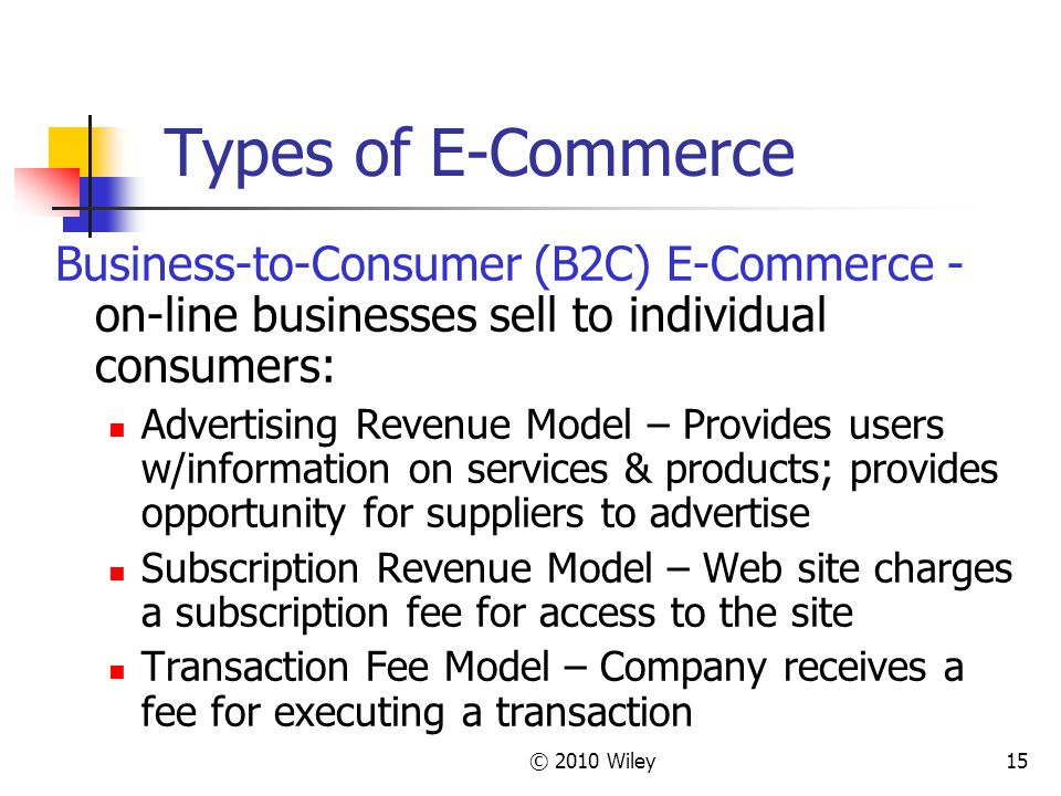 Opportunity commerce on line