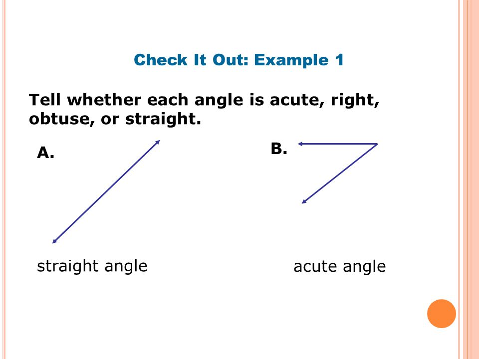 how to find obtuse angle